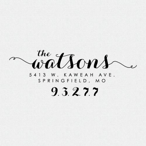 Custom Address Stamp Calligraphy