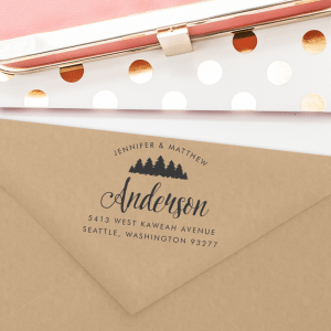 Custom Return Address Stamp with Trees or a Forest