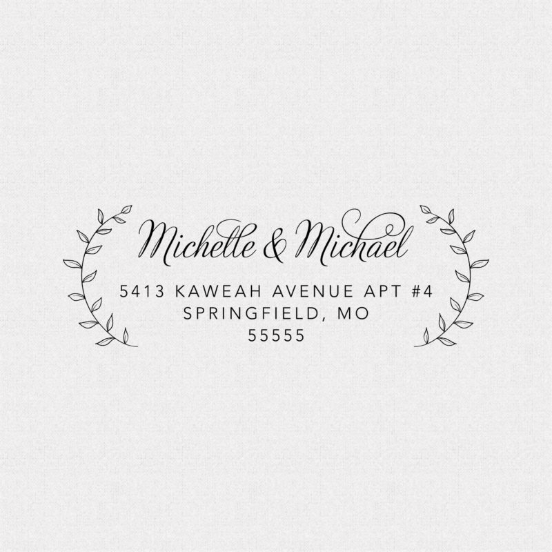 Return Address Stamp with Vines – Style T11