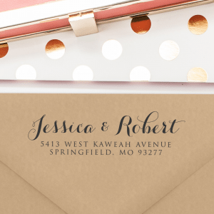 A gorgeous return address stamp.  This stamp is classic, elegant and simple.  T102