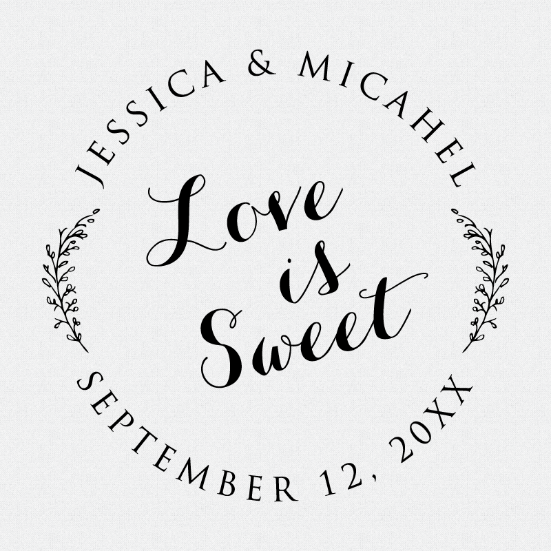 d7ec52060acd6 Personalized Love Is Sweet Wedding Favor Stamp - Style T133