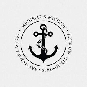 Personalized Anchor Address Stamp