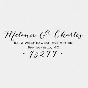 Calligraphy Return Address Stamp