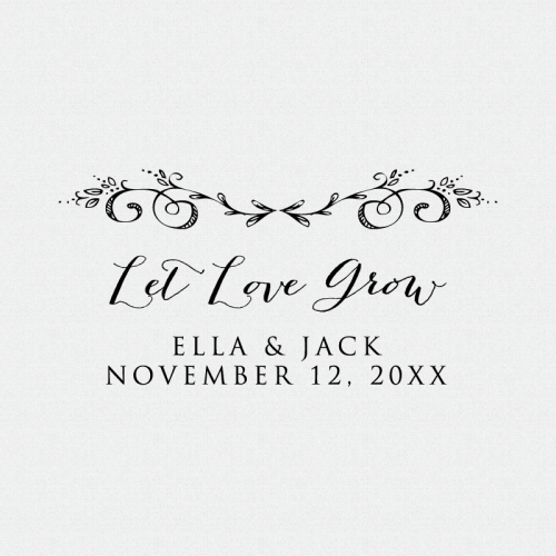 Let Love Grow Personalized Stamp