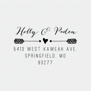 Heart And Arrows Return Address Stamp