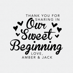 Personalized Our Sweet Beginning