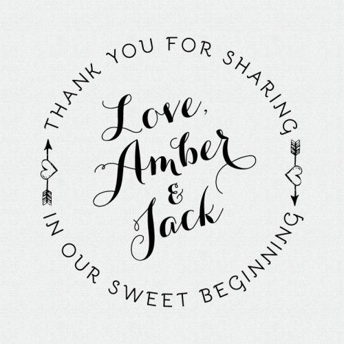 Personalized Our Sweet Beginning Stamp