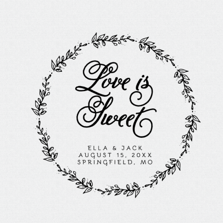 Love Is Sweet Stamp