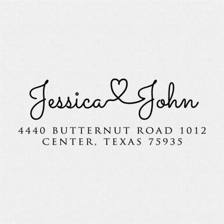 Connecting names with heart Address Stamp