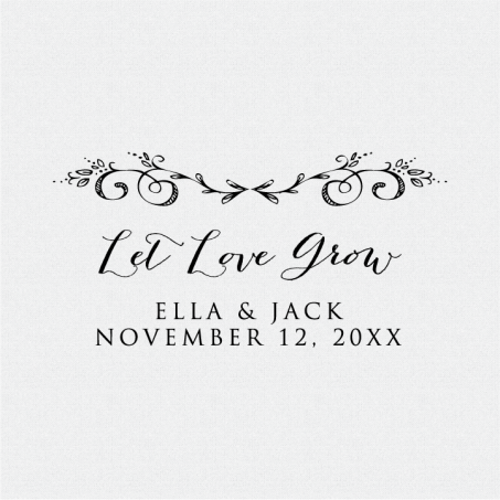 Let Love Grow Stamp