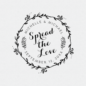 Spread The Love Wedding Favor Stamp