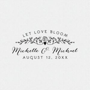 Let Love Bloom Wedding Favor Stamp