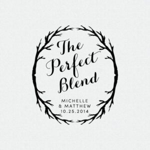 The Perfect Blend stamp is perfect for personalized wedding favors!  T204
