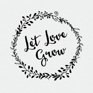Let Love Grow Wedding Favor Stamp, Wedding Decor