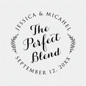 The Perfect Blend stamp is perfect for personalized wedding favors!  T230