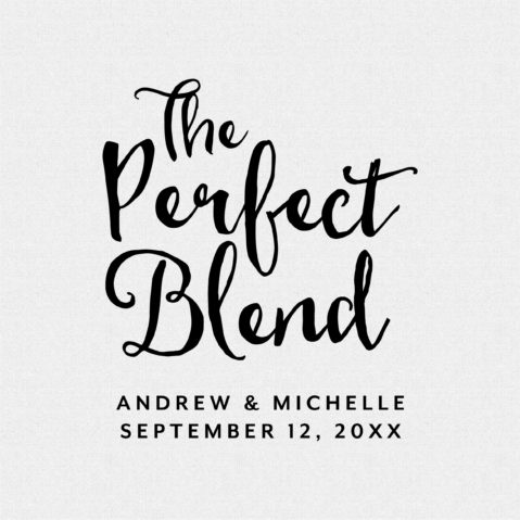 The Perfect Blend stamp is perfect for personalized wedding favors!  T231