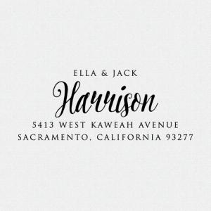 Return Address Stamp – Custom Address Stamp – Return Address Stamp Self Ink – Rubber Stamp – Gifts – Calligraphy (T247)