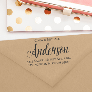 Dress up your envelopes with this trendy chic return address stamp.  T242