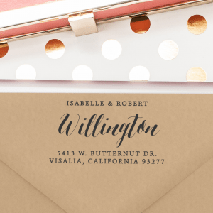 Personalized Return Address Stamp (T114)