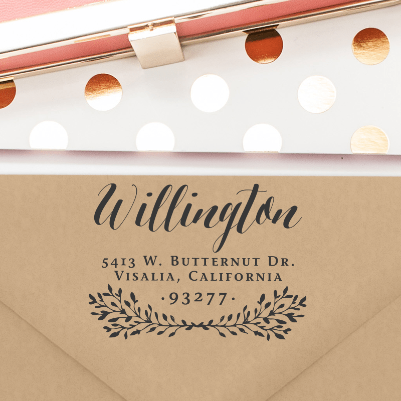 Personalized Return Address Stamp (T158)
