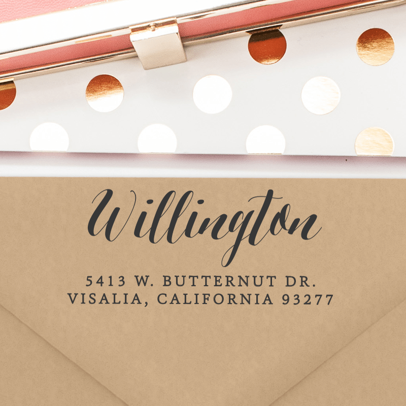 Personalized Return Address Stamp (T167)