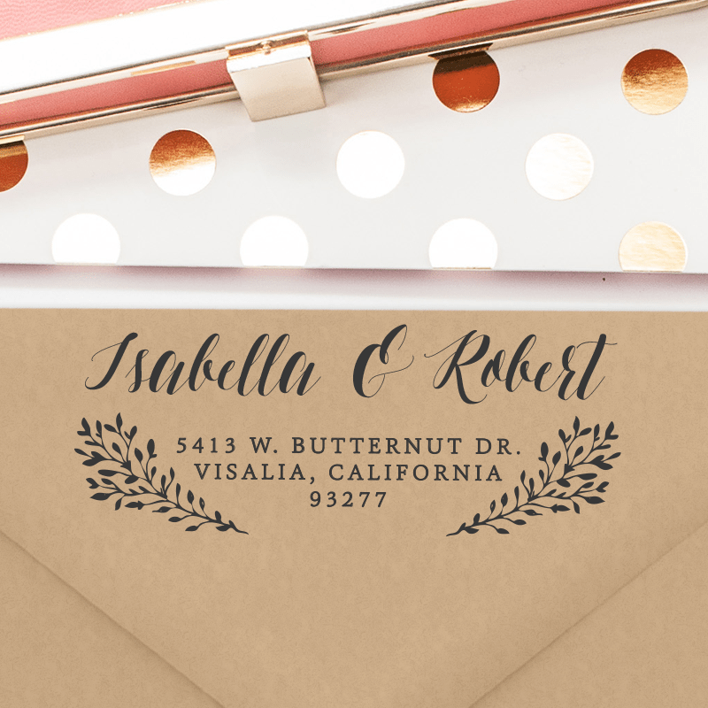Personalized Return Address Stamp (T8)