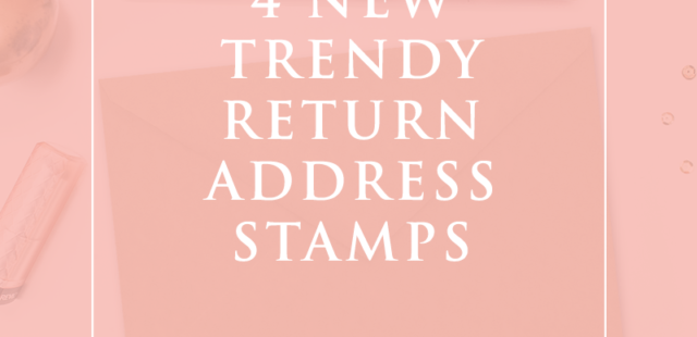 Trendy Return Address Stamp Designs