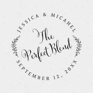 The Perfect Blend Wedding Favor Stamp Style #285