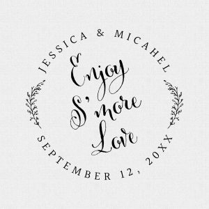Enjoy S'more Love Wedding Favor Stamp Style #287