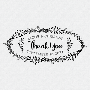 Personalized Thank You Wedding Favor Stamp #T4