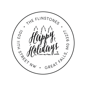 Happy Holidays Return Address Stamp Style #T85