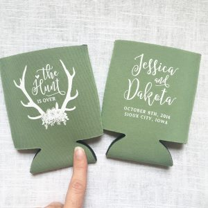 The Hunt is Over Wedding Koozie T332