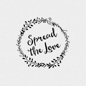 Spread The Love Wedding Favor Stamp – Style T221