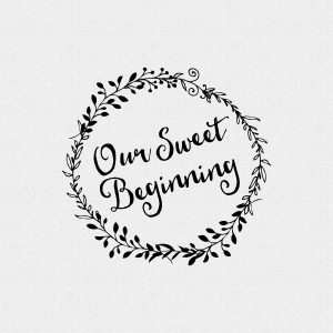Our Sweet Beginning Wedding Favor Stamp – Style T222