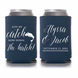 Got My Catch Wedding Koozie – Style T356