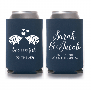 Two Less Fish In the Sea Wedding Can Cooler Style #T571