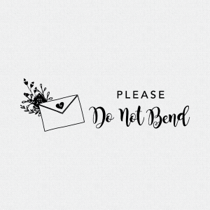 Flowers Please Do Not Bend Stamp – Style T371