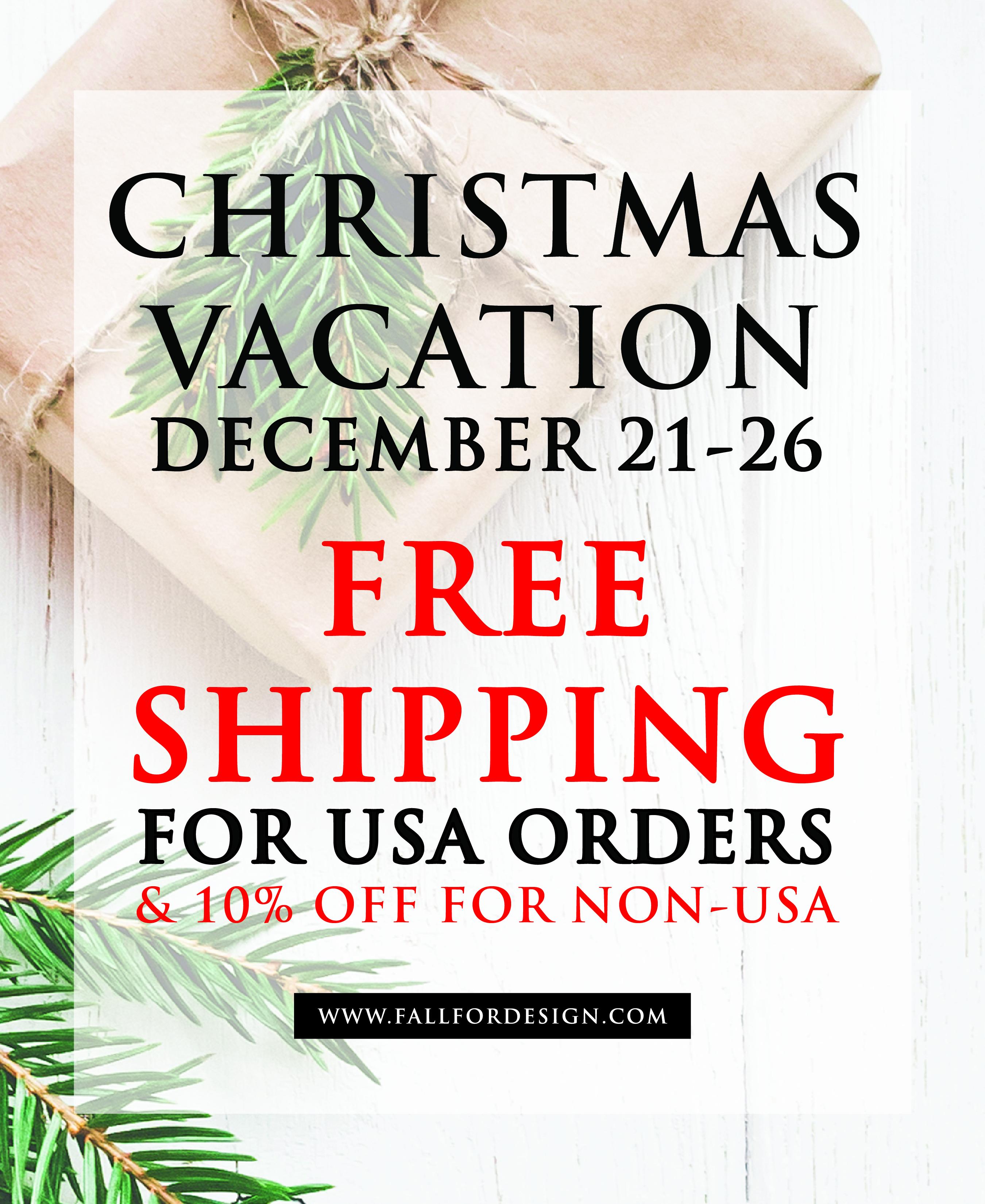 Christmas Vacation Shop Sale!