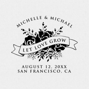 Let Love Grow Wedding Favor Stamp Style #T364