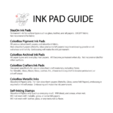 Fall For Design Ink Pad Guide