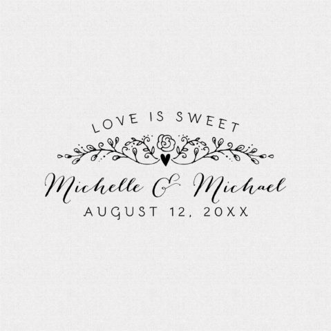 Love is Sweet Wedding Favor Stamp – Style T151