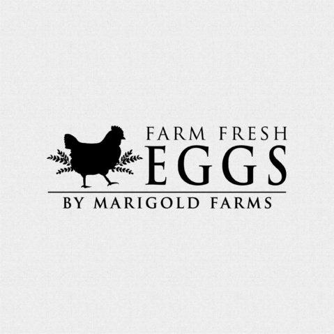 Personalized Farm Fresh Eggs Stamp T418