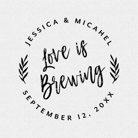 Love is Brewing Wedding Favor Stamp – Style T432