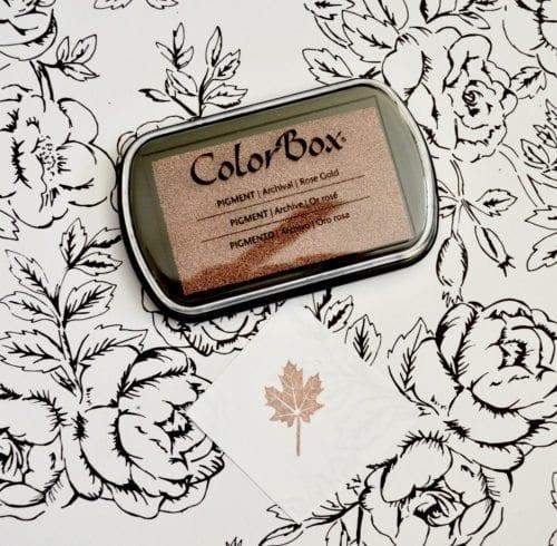 Rose Gold Metallic Ink Pad