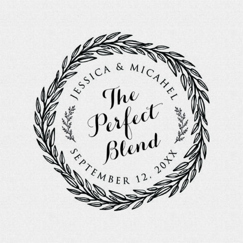 The Perfect Blend Wedding Favor Stamp – Style #439