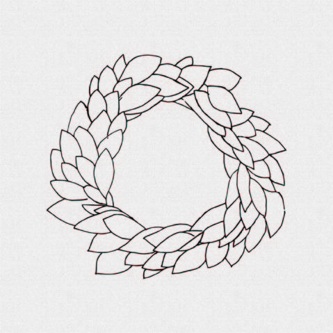 Farmhouse Wreath Rubber Stamp for Scrapbooking – Style TW2