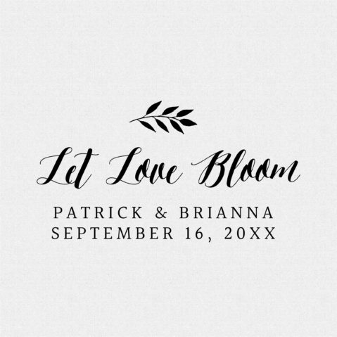 Personalized Let Love Bloom Wedding Favor Stamp Style T88