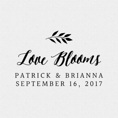 Love Blooms Wedding Favor Stamp – Style T146