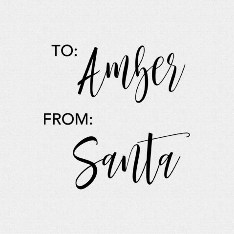 Personalized From Santa Rubber Stamp – Style T164
