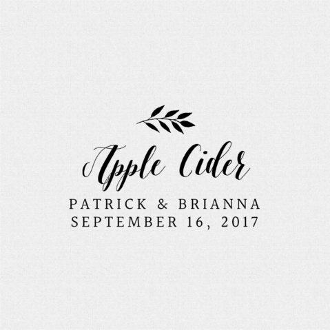 Apple Cider Wedding Favor Stamp Style T195